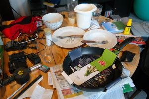To pack your kitchen for moving you have to clear the mess first