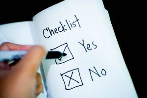 Make a checklist just to feel safe