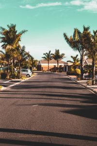 street in a florida suburb