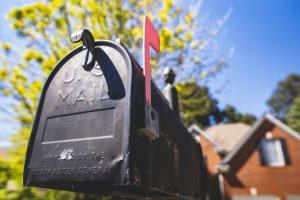 close up photo of a mailbox