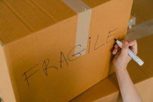 Handling fragile items.
