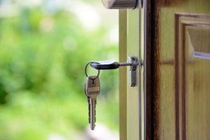 key in an open door