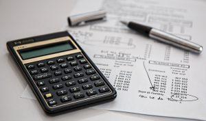 A calculator and a paper