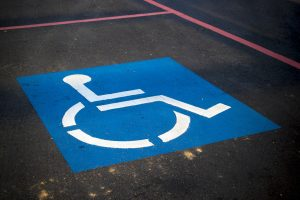 Handicap parking spot