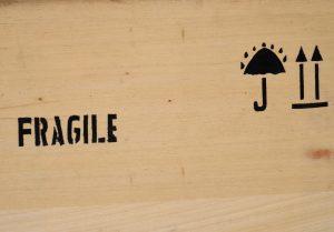 Fragile sign on a box