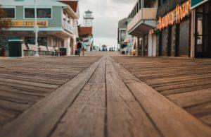close up of a boardwalk