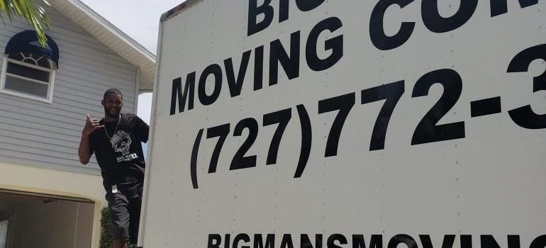 Big Mans moving truck and one mover