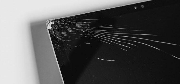 A broken LCD screen