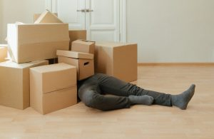 decluttering your Dunedin FL home moving boxes