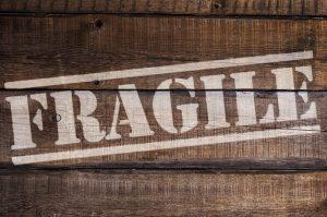 fragile sign on box