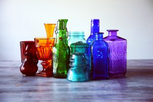 small bottles, different colors