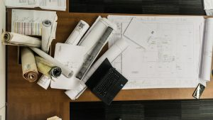 floor plan on the table