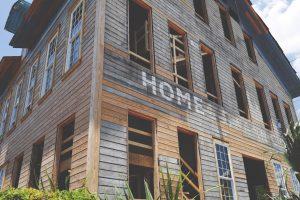 abandon brown house
