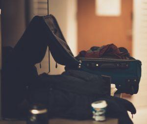 suitcase, unpacking
