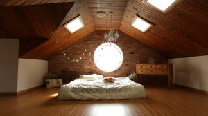 attic room, bedroom