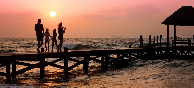 -seaside at the sunset