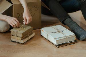 Unpacking books