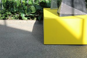 A yellow box on the ground