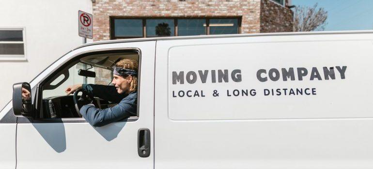 moving van after negotiation