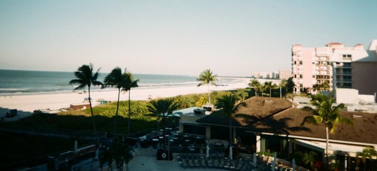 A beautiful, sunny beach in Florida