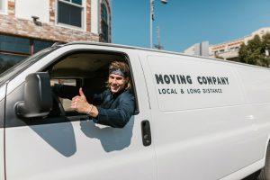 A mover driving his van