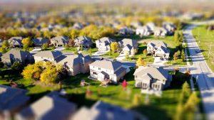 Aerial view of Florida suburb